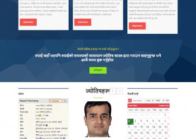 Nepali Jyotish – Full Dynamic Astro Website